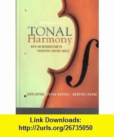 Workbook/Tonal Harmony (9780073327150) Stefan Kostka ...