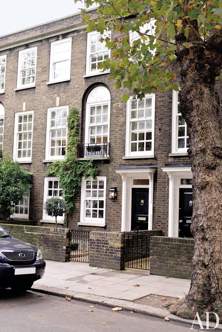 A movie producer's three-story Georgian townhouse in London.