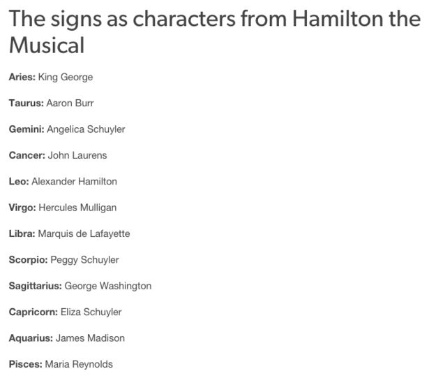 Now I'm Hamilton. Not sure that's right either. Personally I'm more of an Angelica