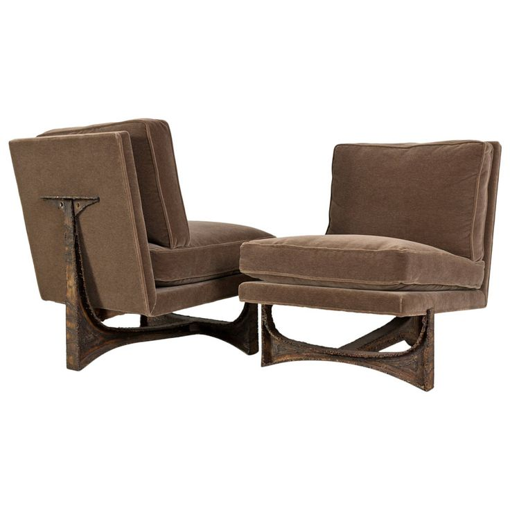 Paul Evans Studio Chairs, Pair   From a unique collection of antique and modern lounge chairs at https://www.1stdibs.com/furniture/seating/lounge-chairs/