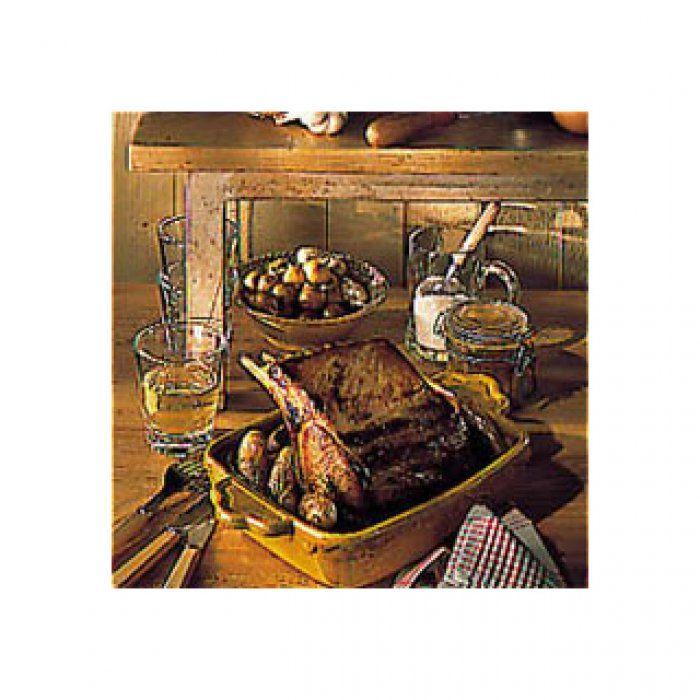 Carré de porc aux pommes de terre en robe