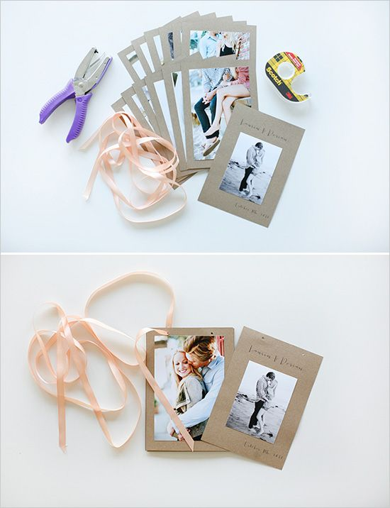 Super simple DIY photo album. They also sell similar kits at Michaels in the dollar section by the registers. Great for writing notes on along with pictures or decorating with scrapbook supplies.