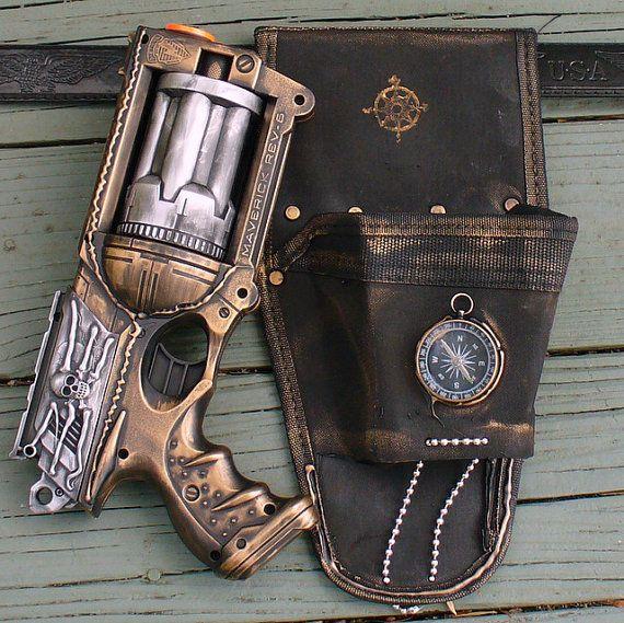 Steampunk gothic MAVERICK Gun HOLSTER  BELT PostApocalyptic