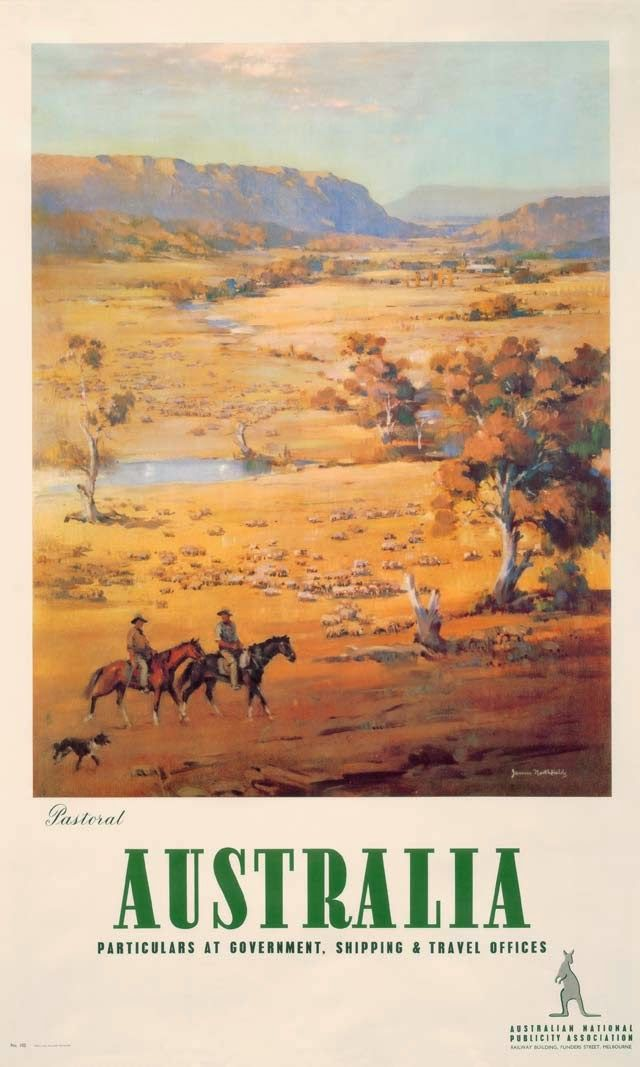 1930s Pastoral Australia poster by James Northfield - ART & ARTISTS: Vintage Travel Posters - part 3