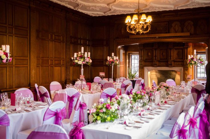 Purple Price organza sashes, a beautiful colour combining purple and pink.  Looks amazing at this recent wedding at Inglewood Manor