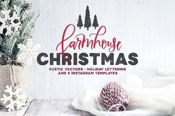 Only $12! | Farmhouse Christmas Kit by Callie Hegstrom on @creativemarket