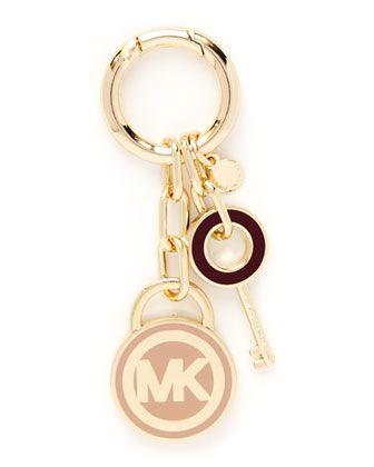 Lock  Key Fob by MICHAEL Michael Kors at Neiman Marcus.