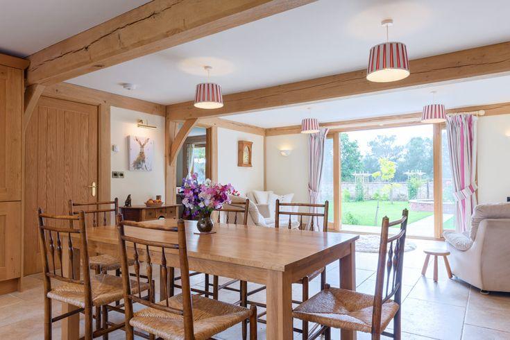 Dining room ideas from Welsh Oak Frame  #diningrooms #diningroomideas #oakframe #oakbeams