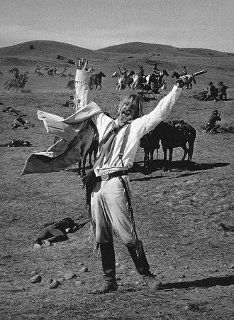 Richard Mulligan as Custer in  Little Big Man (1970)  He played 'crazy' so good.