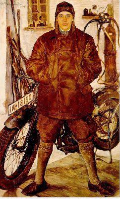 Lotte Laserstein, Motocycliste, 1929