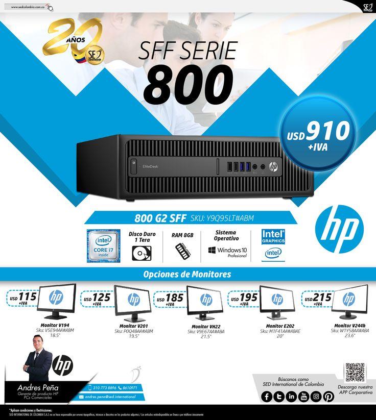 SFF Serie 800 de HP :Contacta a tu gerente de producto para más información: Andres Peña Celular: 310 773 8896 Email: andres.pena@sed.international #HP #SEDCOLOMBIA #SEDINTERNATIONAL
