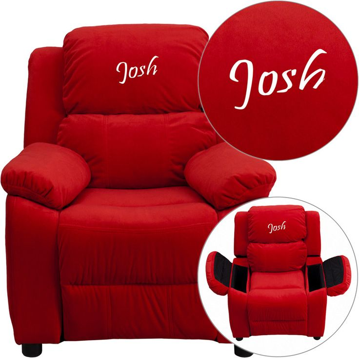 Flash Furniture BT-7985-KID-MIC-RED-EMB-GG Personalized  sc 1 st  Pinterest & 12 best Kids Rocker Recliners images on Pinterest | Recliners ... islam-shia.org