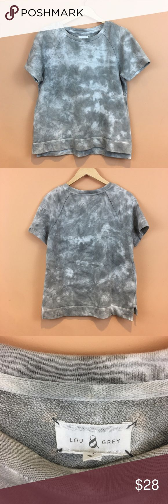"""LOFT Lou & Grey Washed Tie Dye Short Sleeve top LOFT Lou & Grey Washed Tie Dye Short Sleeve top  size small  pit tp pit 20""""  front length 24""""  back length 26""""  100% cotton Lou & Grey Tops"""