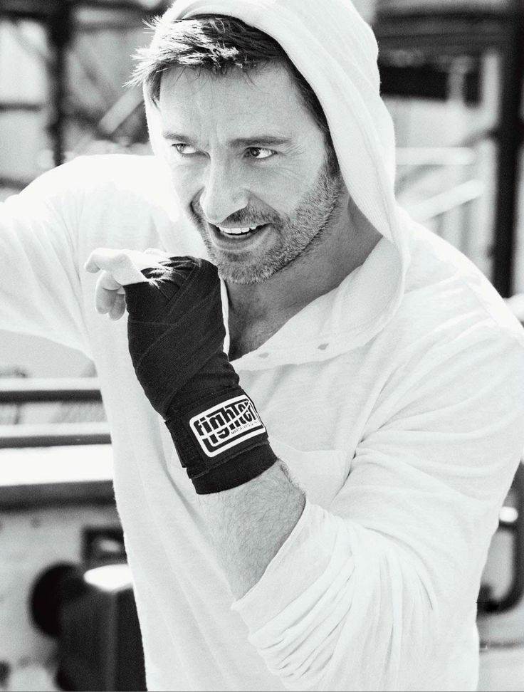 Of course I love him because he's easy on the eyes and charismatic, but, another reason why I love Hugh is because of his positive energy and ambitions for fitness. I consider him a role model :)