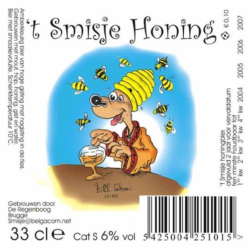 Beer Label for Smisje Honing Beer