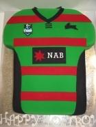 South Sydney Rabbitoh's football jersey birthday cake
