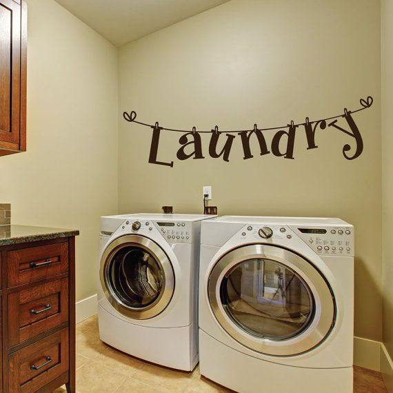 Luxe Lofts Laundry Room Wall Decals Will Add The Perfect Touch To Your Laundry Room Wall