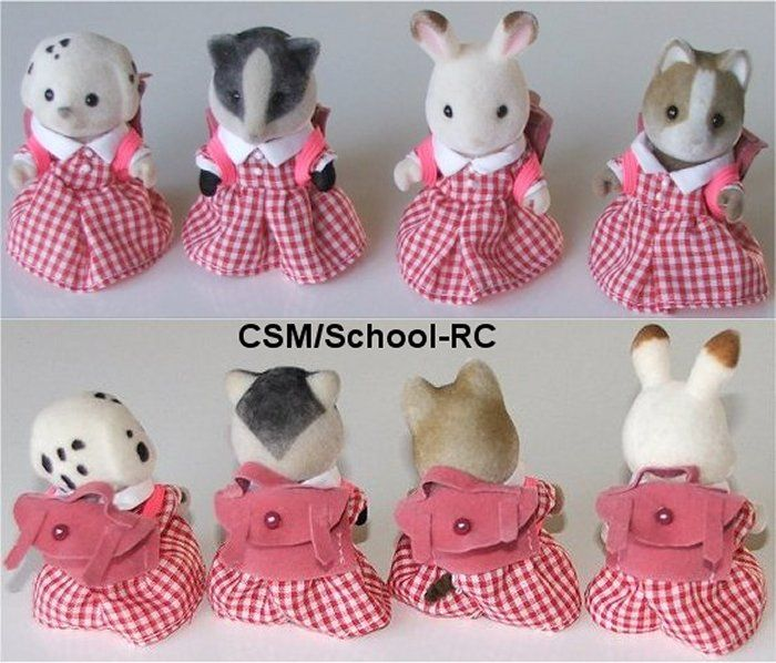 School dress - red check with satchel