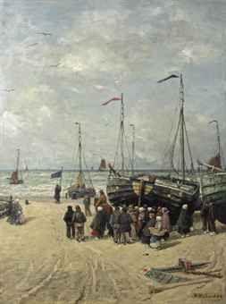 Hendrik Willem Mesdag, Signaling the boats, Scheveningen
