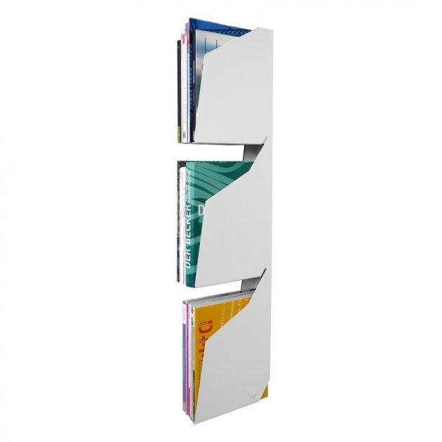 Minimalist and Sculptural Magazine Rack For Up To 30 Magazines | DigsDigs