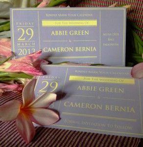 Abbie & Cameron - Wedding Invitation