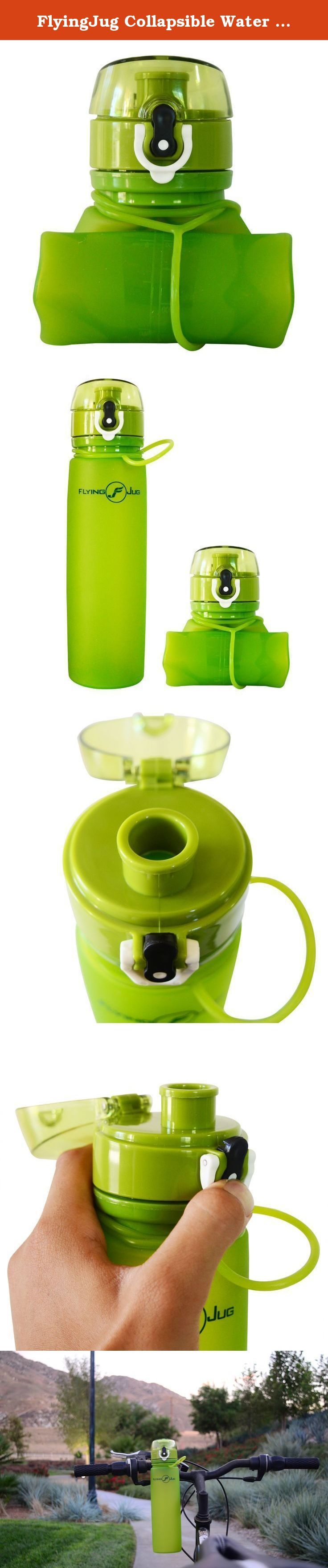 FlyingJug Collapsible Water Bottle - Leak Proof Push Button Cap - BPA Free, 700ml 23.7 ounce. Stay Hydrated With The Ultimate Jungle Green Sports Water Bottle! Do you constantly forget to drink water while running around doing chores or working those muscles at the gym? We will give you a good reason to hydrate yourself constantly with our marvelous sports bottle! Take it anywhere you go thanks to its compact design and collapsible properties. Durable Silicone Water Bottle Easy To Carry...