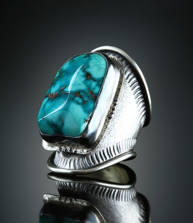 Turquoise Ring. Fabricated Sterling Silver. www.amybuettner.com https://www.facebook.com/pages/Metalsmiths-Amy-Buettner-Tucker-Glasow/101876779907812?ref=hl https://www.etsy.com/people/amybuettner
