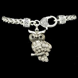 Owl Braided Clasp Bracelet