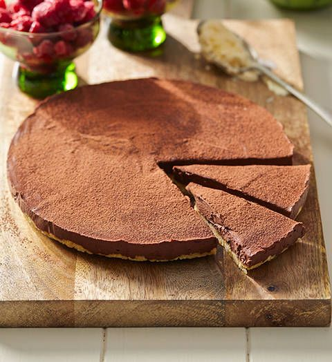 Chocolate ganache tart: Gloriously thick and rich, this is a divine way to finish any dinner party with a bang!