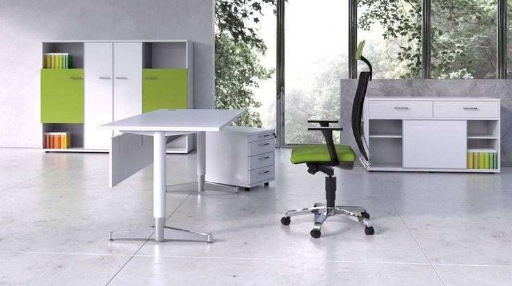 Meble biurowe Codo wyróżnia prosta forma i nowoczesny styl.  #elzap #miejscepracy #workspace #biurko #krzesło #desk #chair #design #officedesign