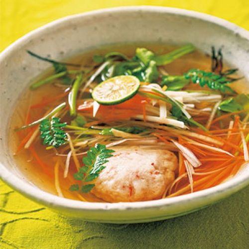エビしんじょの和風スープ