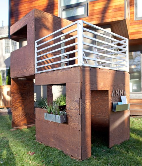 """The concept for Play Modern Cuba and 2Cuba playhouses prove the that the best concepts grow from what you know. Like many kids, architect Kimball Hales' three children enjoyed nothing more than playing """"house"""" inside a cardboard refrigerator box."""