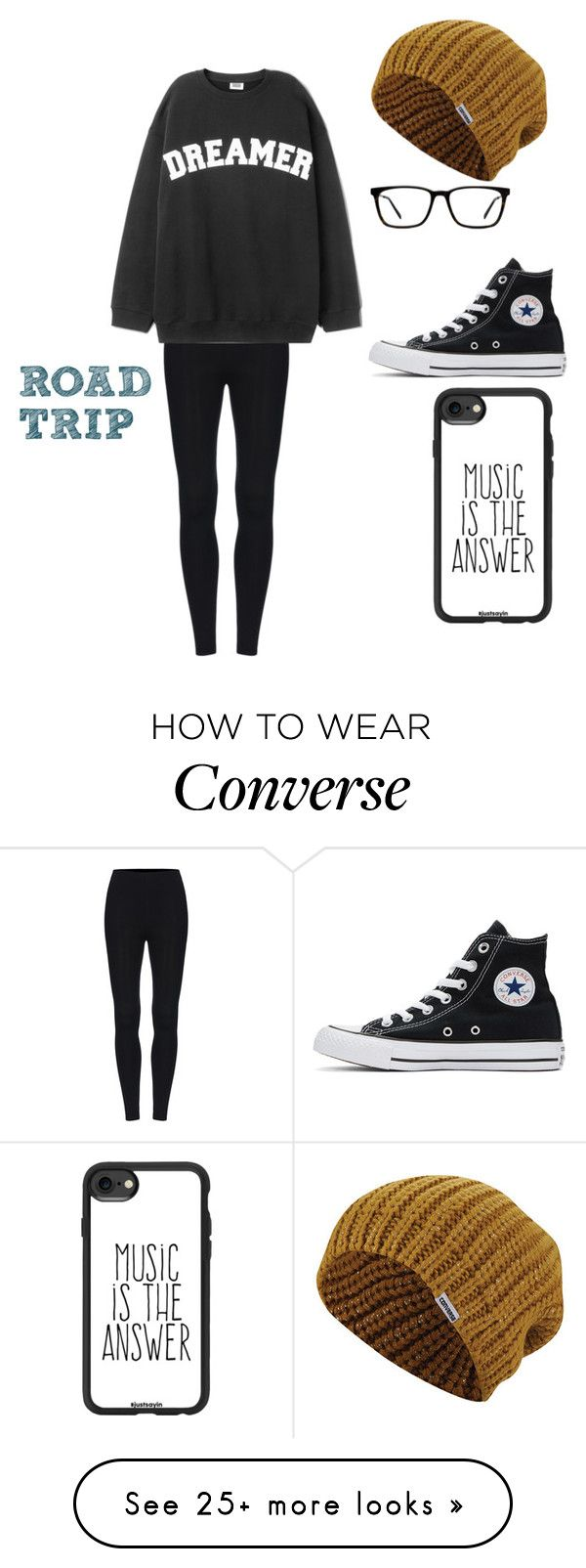 """ROAD TRIP!!!"" by ninafish on Polyvore featuring Converse, Muse and Casetify"