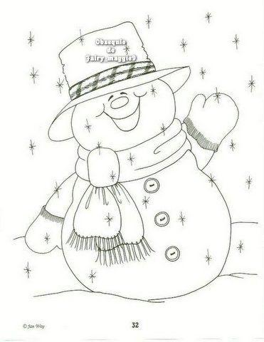 muñeco de nieve sonriendo