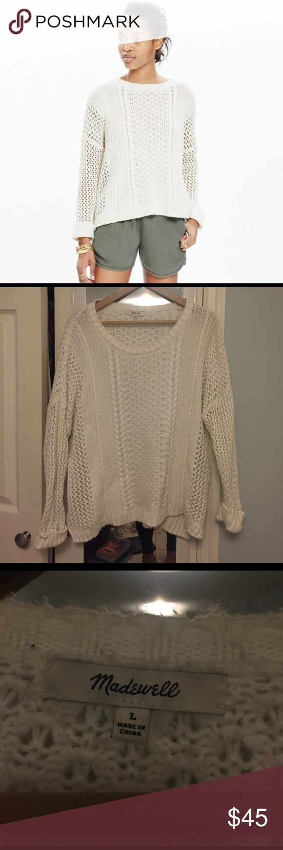 Madewell plaza pullover sweater SOLD OUT ONLINE! In great condition & no underarm stains. Lightweight sweater, great for transitioning from winter to spring! Madewell Sweaters Crew & Scoop Necks