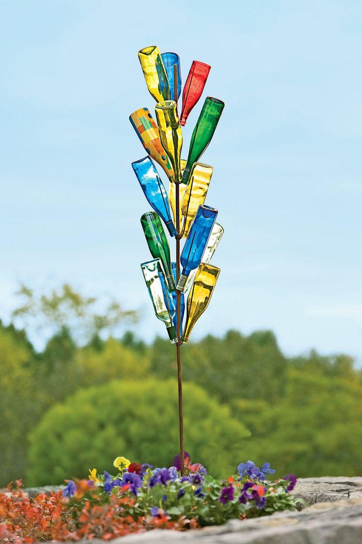 192 best BOTTLE TREES images on Pinterest | Garden art, Wine bottle ...