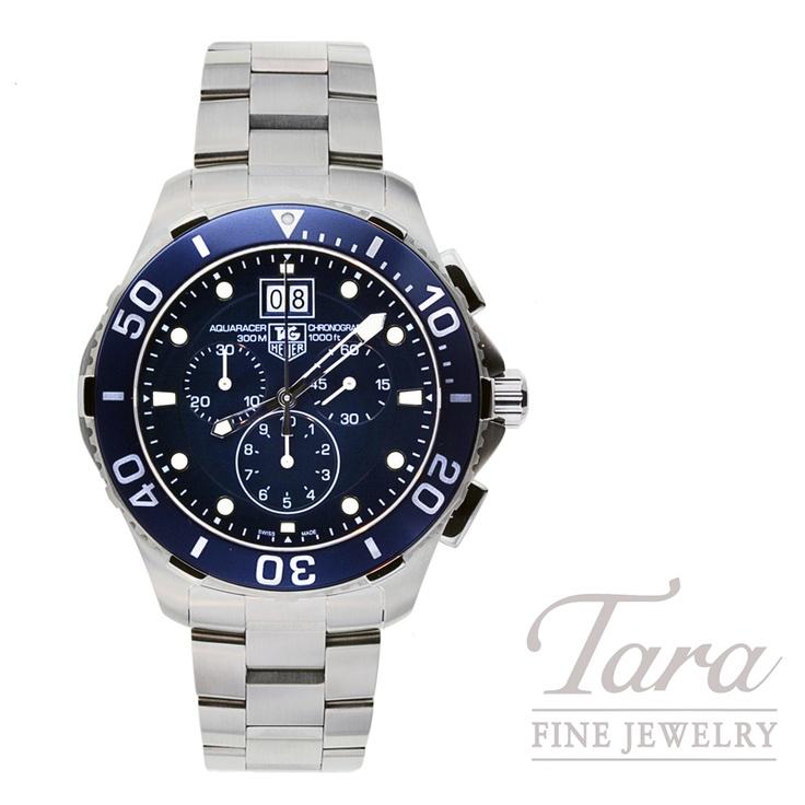 Tag Heuer 43mm Aquaracer Chronograph   Tara Fine Jewelry Company - Atlanta