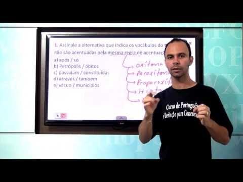 ACENTUAÇÃO GRÁFICA - QUESTÕES DA FGV - 1