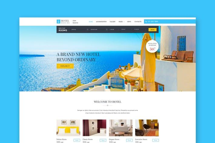Hotel Booking Html Template For Hotels By Wpmines On Envato Elements Best Templates Best Website Templates Wordpress Theme