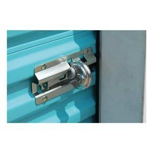 Protect disk lock shackle, door bracket by Ranger Lock. $11.10. Protect disk lock shackle, door bracket Lock Guards Restrictive lock cavity prevents shackle from being cut by vandals' bolt cutters and cutting tools. Sloped roofs deflect physical attack. Corrosion-resistant guard also protects lock from rain, sleet, and snow. Fully portable; install in seconds. Lock box installs in minutes. Fit most padlock brands. Lock not included unless indicated.