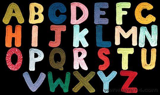 Схемы вязания букв русского и