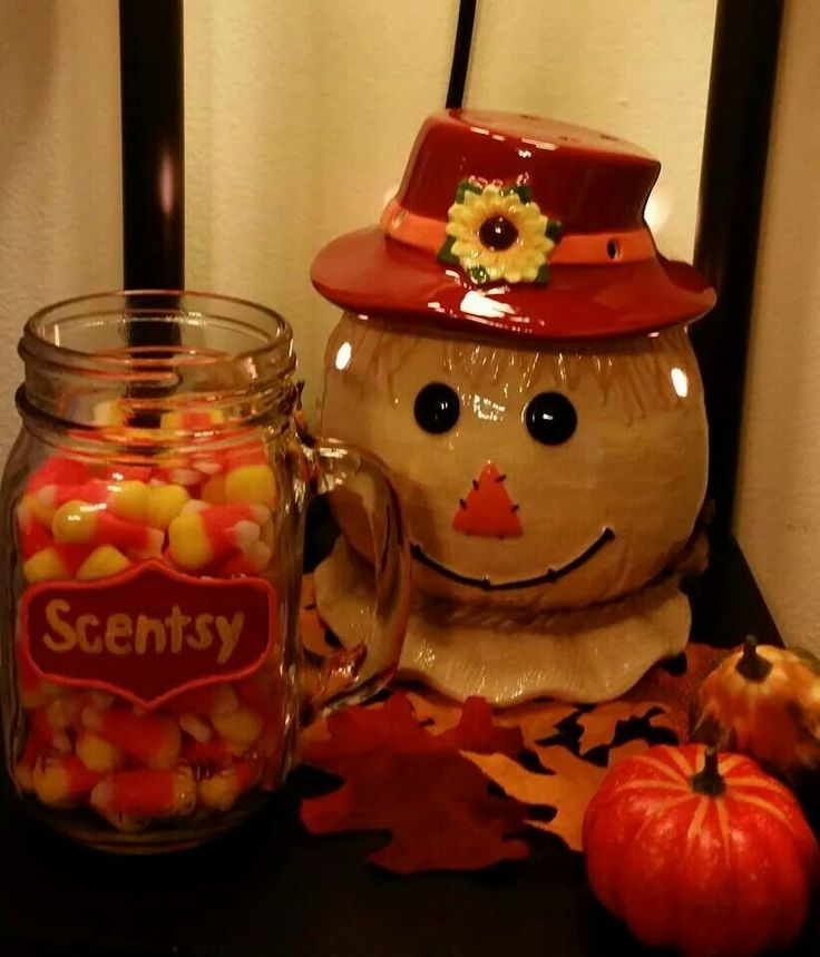 Who is ready for some Fall Fun!!! Can you guess how many Candy Corn pieces are in the jar next to Scentsy's adorable Scarecrow Warmer! Comment below with the number you guess and with the name of your favorite Fall/Winter-Holiday Scent!! The person who can get the closest without going over will get a special treat! jessicaseets.scentsy.us
