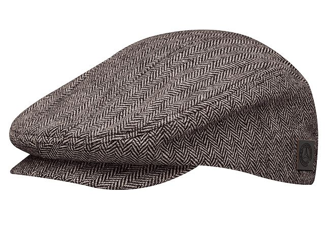 Flat cap - B66041503 Colour:     brown/beige Material information:     polyester  This casual cap with its trendy retro look captures the flair of the 1930s. The subtle brown/beige colour scheme is perfect for its classic herringbone pattern. A vintage logo features on a brown leather patch.  - colour: brown/beige - polyester - one size