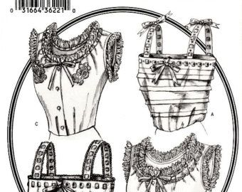 Viktorianische und Edwardian Camisole Kostüm Muster Größe 12 14 16 Lose Montage ziehen über Unterwäsche Butterick 3765 Sewing Patterns ungeschnittenen FFolds