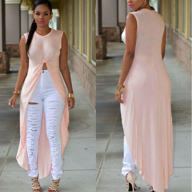 Cheap 2015 nuevas mujeres atractivas alto bajo trenzado Crop Tank Top Maxi cola larga blusa, Compro Calidad Blusas y Camisas directamente de los surtidores de China:      Descripción       Fotos