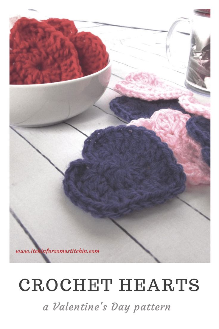 Easy Crochet Heart Instructions by www.itchinforsomestitchin.com
