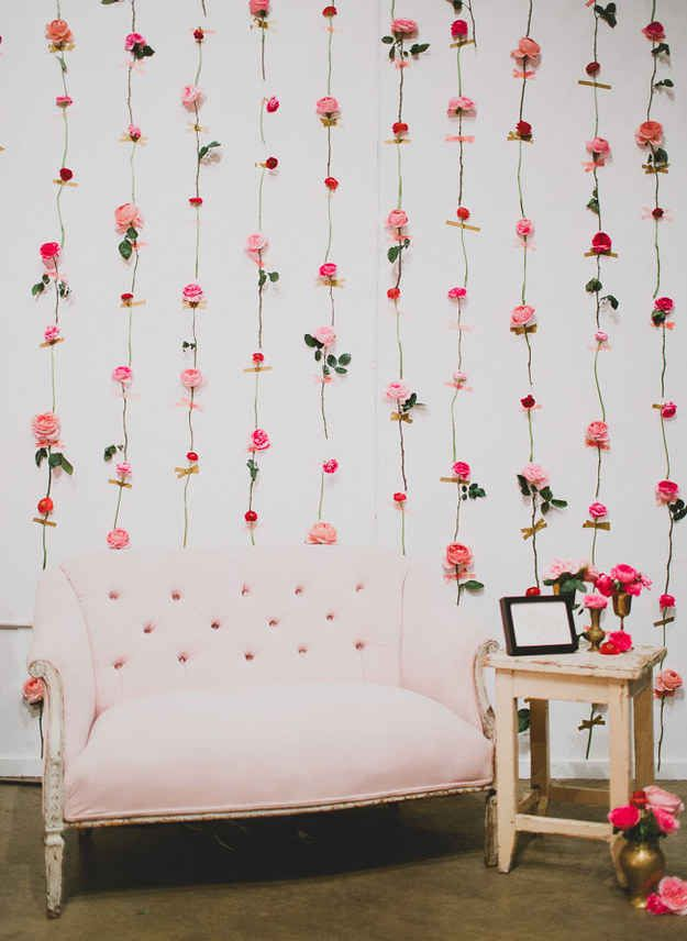 Fresh Flower Wall for a photo backdrop