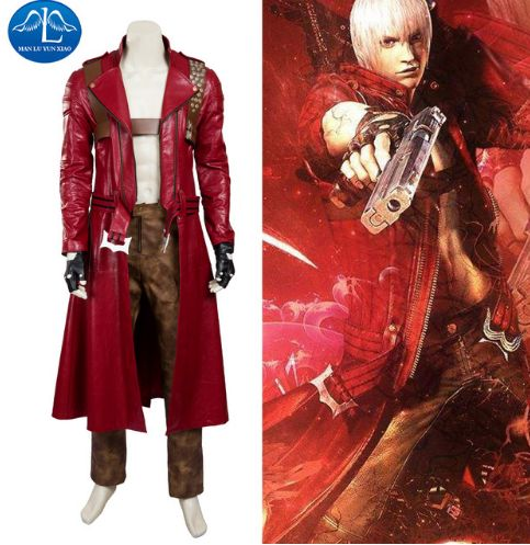 MANLUYUNXIAO New Men's Devil May Cry 3 Dante Cosplay Costume Deluxe Outfit Halloween Cosplay Costume For Men Custom Made. #cosplay_shopping #cosplay_suits_for_sale #male_cosplay #cosplay_men #best_cosplay_wigs #custom_cosplay #tobi_cosplay