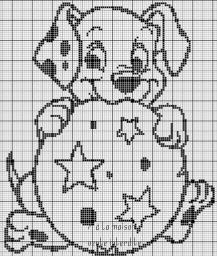 Un dalmatien en grille monochrome :