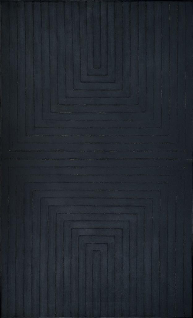 peinture abstraite : The Black Paintings, 1959, Frank Stella, US